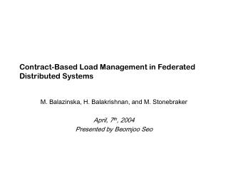 Contract-Based Load Management in Federated Distributed Systems