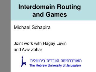 Interdomain Routing and Games