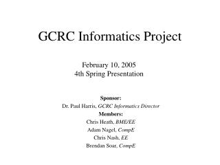 GCRC Informatics Project