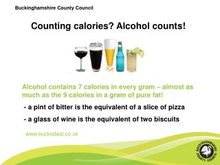Counting calories? Alcohol counts!
