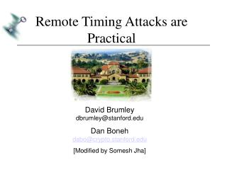 Remote Timing Attacks are Practical