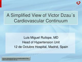 A Simplified View of Victor Dzau´s Cardiovascular Continuum