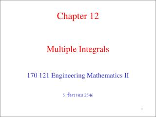 Multiple Integrals