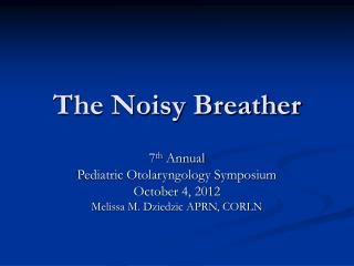The Noisy Breather