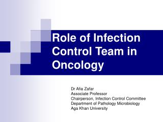 Role of Infection Control Team in Oncology