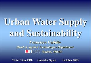 Urban Water Supply and Sustainability