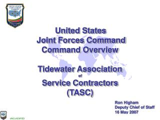 United States  Joint Forces Command Command Overview Tidewater Association of Service Contractors (TASC)