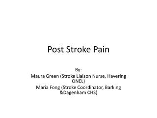 Post Stroke Pain