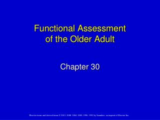 Functional Assessment of the Older Adult
