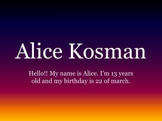 Alice Kosman