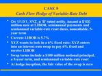 CASE 5  Cash Flow Hedge of Variable-Rate Debt