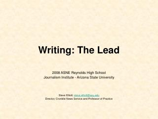 Writing: The Lead