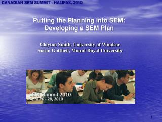 Putting the Planning into SEM: Developing a SEM Plan