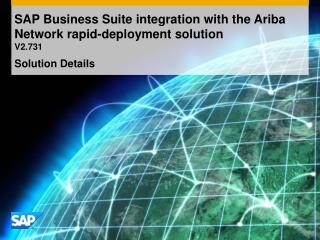 SAP Business Suite integration with the Ariba Network rapid-deployment solution V2.731