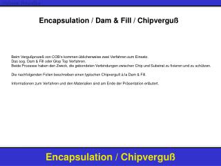 Encapsulation / Dam & Fill / Chipverguß
