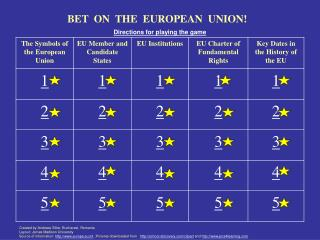 BET  ON  THE  EUROPEAN  UNION!