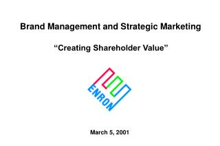 Brand Management and Strategic Marketing