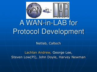 A WAN-in-LAB for Protocol Development