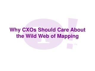 Why CXOs Should Care About the Wild Web of Mapping
