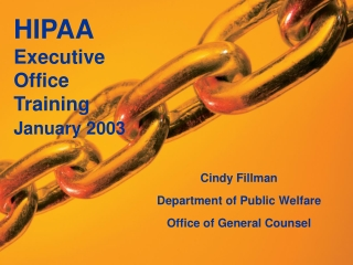Cindy Fillman Department of Public Welfare Office of General Counsel