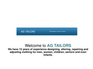 Same Day Tailoring & Alterations Services