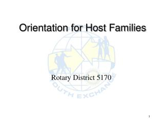 Orientation for Host Families
