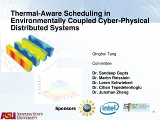 Thermal-Aware Scheduling in Environmentally Coupled Cyber-Physical Distributed Systems