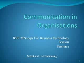 Communication in Organisations