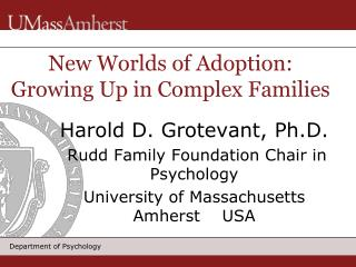 New Worlds of Adoption: Growing Up in Complex Families