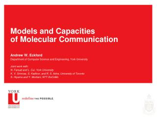 Models and Capacities of Molecular Communication