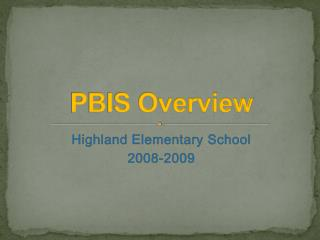 PBIS Overview