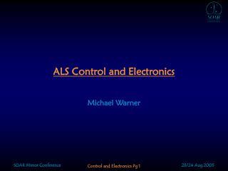 ALS Control and Electronics
