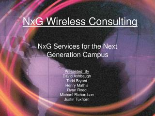 NxG Services for the Next Generation Campus