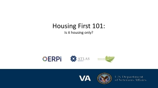 Housing First 101: Is it housing only?