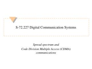 S-72.227 Digital Communication Systems