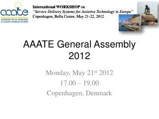 AAATE General Assembly  2012