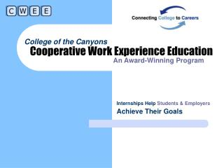Cooperative Work Experience Education