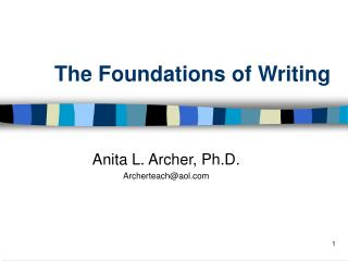 The Foundations of Writing
