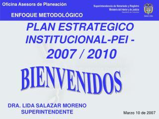 PLAN ESTRATEGICO INSTITUCIONAL-PEI - 2007 / 2010