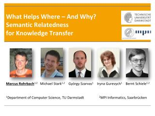 What Helps Where – And Why? Semantic Relatedness  for Knowledge Transfer