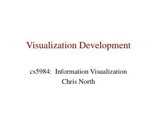 Visualization Development