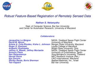 Robust Feature-Based Registration of Remotely Sensed Data