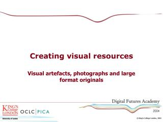 Creating visual resources