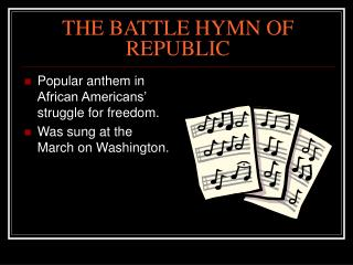 THE BATTLE HYMN OF REPUBLIC