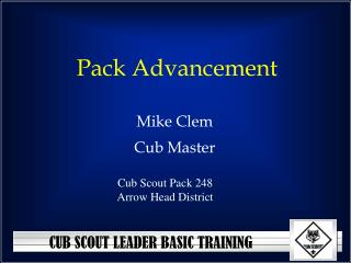 Pack Advancement