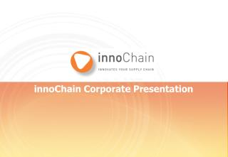 innoChain Corporate Presentation