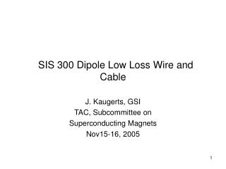 SIS 300 Dipole Low Loss Wire and Cable