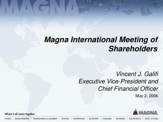 Magna International Meeting of Shareholders