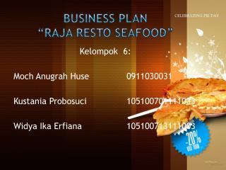 "Business Plan  ""Raja Resto Seafood"""