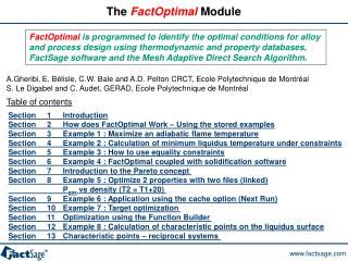 The  FactOptimal  Module